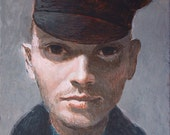 IPALBUS, Art Print -Man in a British Navy Hat, After Original Painting