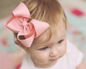 """Basic Four Inch 4"""" Loopy Boutique Bow Set of 5-Choose from 19 colors"""