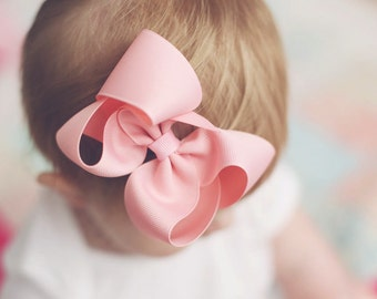 """Basic Four Inch 4"""" Loopy Boutique Bow Set of 10-Choose from 19 colors"""