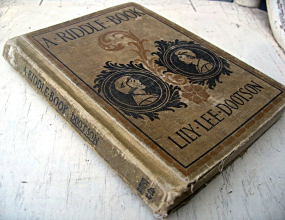 Vintage child's book, A Riddle Book, beautiful silhouettes, 1925