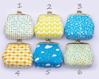 Geometric Floral Summer little coin Purse
