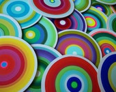 """Handpainted Custom Coasters Set of 6 in a variety of colors.  4"""" Heavy duty Recycled Pulp Board Made to Order"""