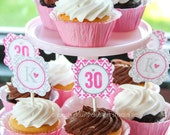 "30 FLIRTY - Printable 2"" Birthday Party Circles - Thirty, Flirty, and Thriving - DIY 30 Flirty Collection - by Make Life Cute"