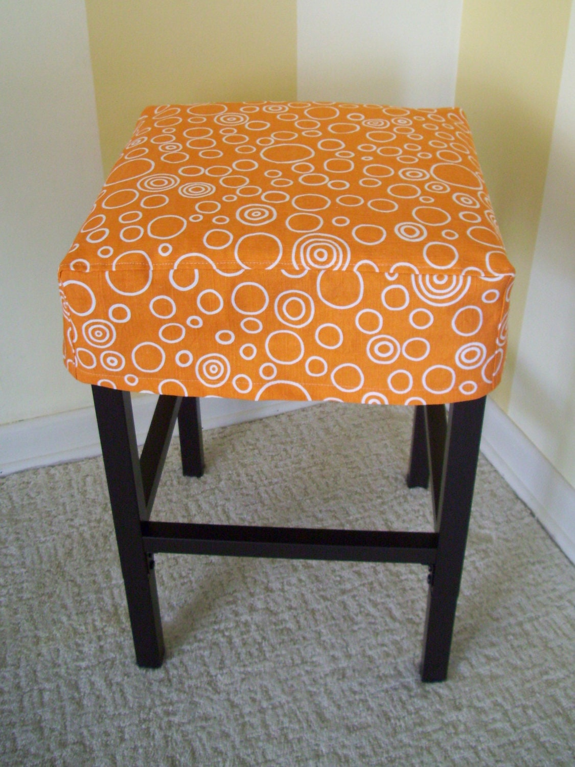 Square Bar Stools ~ Square barstool slipcover simple bar stool cover