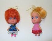 Vintage Kiddles Tiny Doll Earrings DEADSTOCK