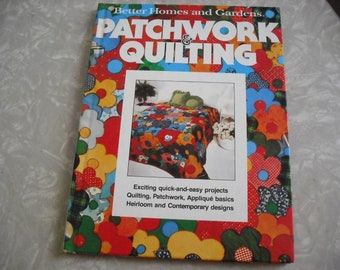 Vintage Book Patchwork  And Quilting 1970s Better Holmes and Gardens
