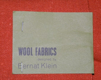 BERNAT KLEIN Denmark Burnt Orange Wool Fabric plus extra swatches