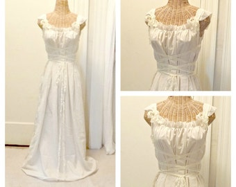 Medieval Dress Simple Minimal Viking Corset Bridesmaid Wedding Affordable LARP Ren Faire Short, Midi or Maxi, Custom Womens