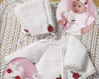 Heirloom Thread Crochet Layette Outfits For Baby Pattern Leaflet Book 1310