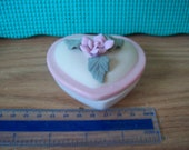 RoseHeart Porcelane Keepsake Cache trinket box, In original box.