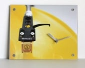 Yellow Wall Clock : Record Player Needle Clock for EDM Boys and Girls
