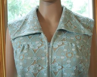 Womens  Dress  Mod Op Art Textured Print Shift  Dress Sleeveless -Polyester Dress  70's Baby!!!