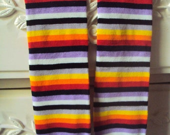 Baby Leg Warmers -Free Shipping- Lavender & Red and More Stripe Baby Leggings