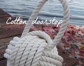 4 Cotton Nautical Doorstops - with Handle - nautical decor