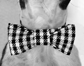 Dog Collar Bow Tie- Houndstooth