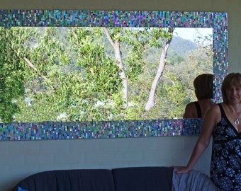 Mosaic mirror 2m by 1metre