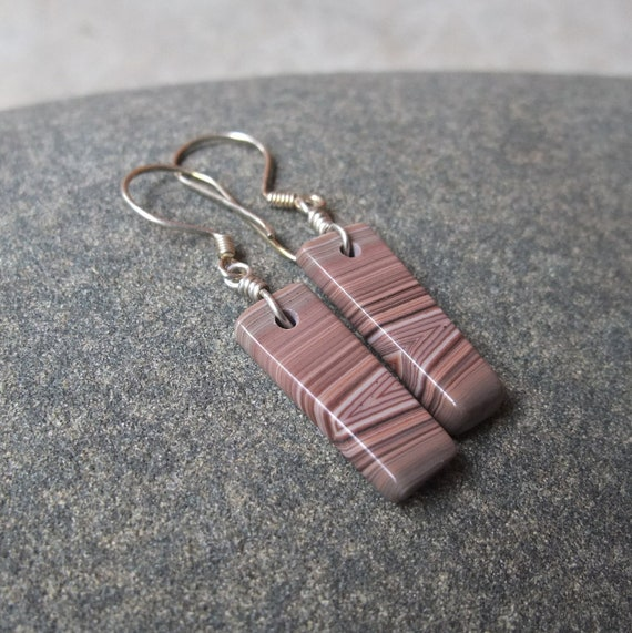 Agate Earrings - handcrafted in Australia - unique gift under 40