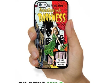 iPhone SE 5S Comic Book Plastic or Rubber Case for iPhone 5 iPhone 5S Vintage Retro Comic Darkness Reproduction Horror Comic