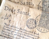 Christmas Advent Pockets - 12 Days of Christmas - Letters to Santa - Christmas Letters - Free Shipping