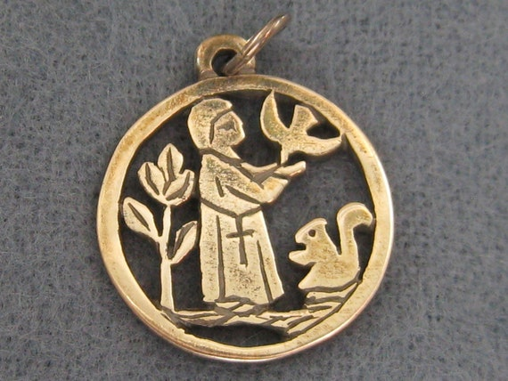 avery st francis of assisi bird squirrel sterling
