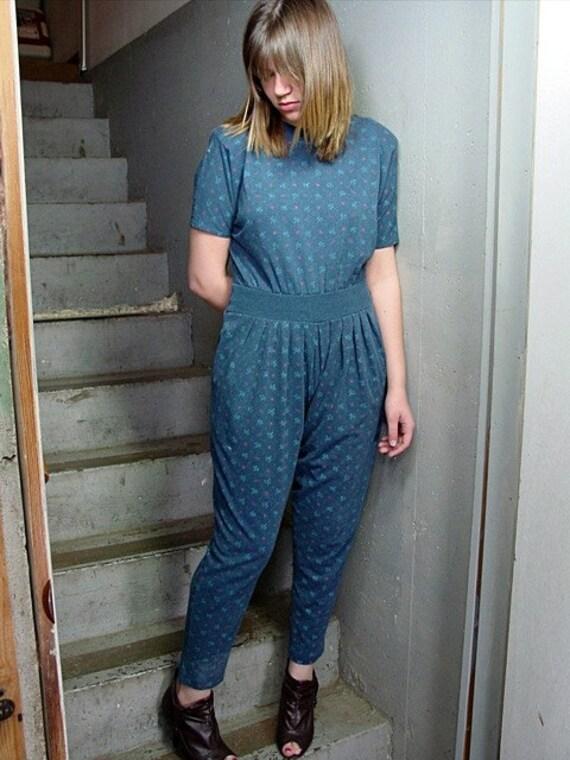 RESERVED FOR LIBBY----Vintage 80's Harem Jumpsuit (s-m)