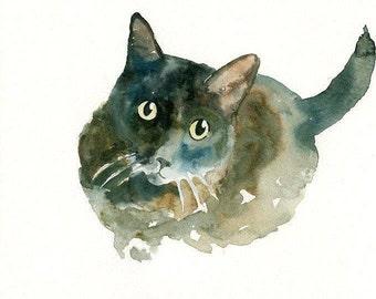 CUSTOM PET PORTRAIT Original watercolor painting 8X10inch