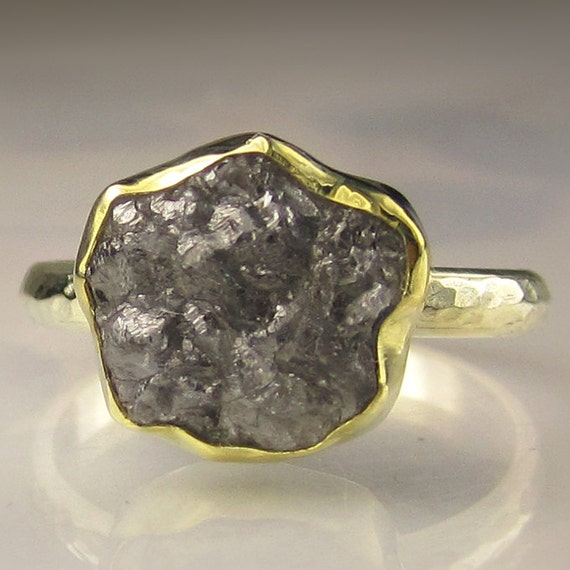 Rough Diamond Ring - 18k and 14k Gold