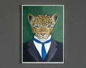 Art Print - Leopard - Signed by Artist -- 8x10 // 16x20 // 22x28