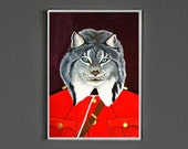 Art Print - Canadian Lynx - 5x7-  Signed by Artist - wall art