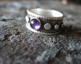 Amethyst Stone Ring (Made to order)