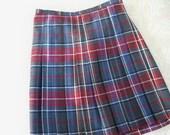 Vintage Clothing Skirt Plaid Women's Mini Kilt Made in Italy