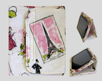 iPad Cover Hardcover, iPad Case, iPad Mini Cover, iPad Mini Case, iPad Air Case, iPad Pro Case, iPad 2, iPad 3, iPad 4 Pink Paris