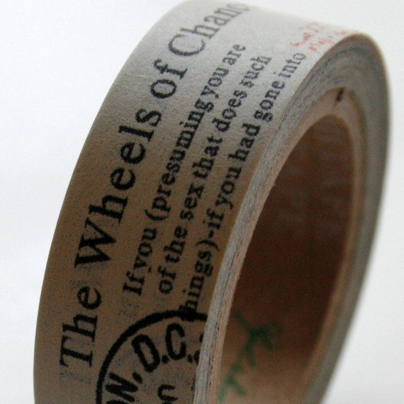 Washi Tape 15mm Black Vintage Kitchen Essentials On