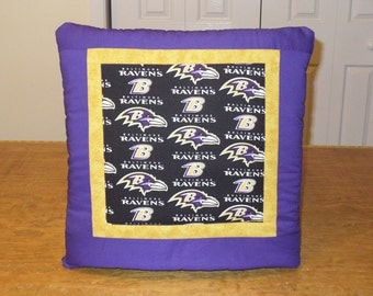LAST One - Baltimore Ravens NFL Football QUILLOW - personal quilt that folds into a pillow