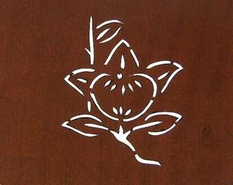 Vintage Japanese Stencil Flower Family Crest