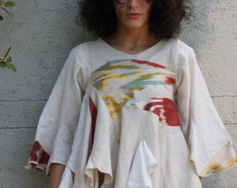 movie boy ikat and linen swing origami tunic