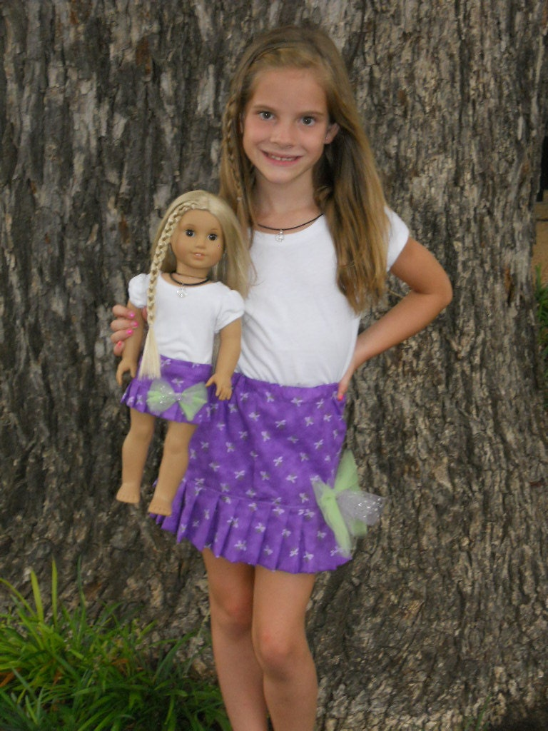 Doll Clothes Superstore carries a wide variety of matching doll and girl clothes that include sleepwear, dresses, suits, shorts and pants. And if you want to shop by size, you can do that too! We stock girl and doll matching outfits for American Girl dolls, Bitty Baby .