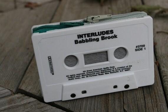 Interludes Babbling Brook- cassette tape wallet