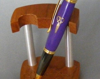 Purple Shears Twist Pen
