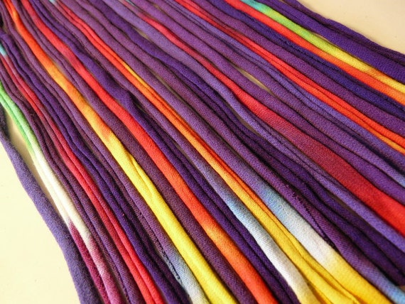 Recycled T shirt Yarn Strips-Variety of Purples - Rt621