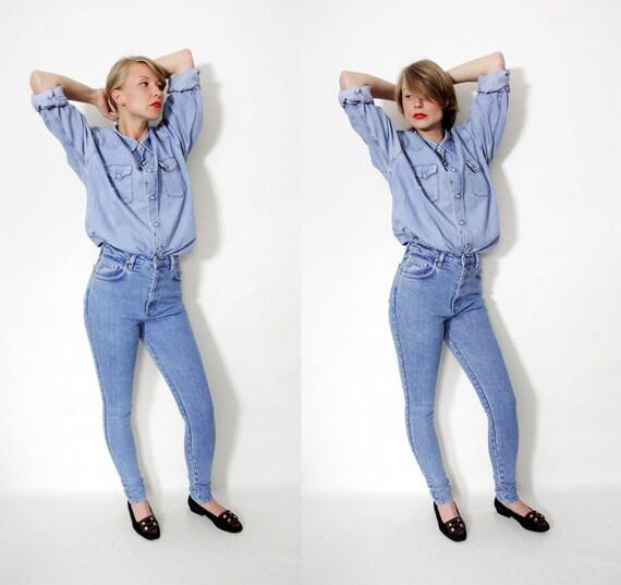 r e s e r v e d for asdfsjklfg Vintage jeans / 80s high waist skinny jeans / size S