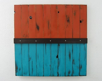 Reclaimed Wood Art - Rustic Wall Art - 36 x 36