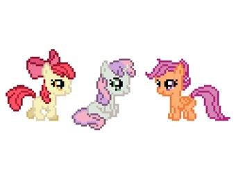 Cutie Mark Crusaders (My Little Pony: Friendship Is Magic) - Cross Stitch Pattern