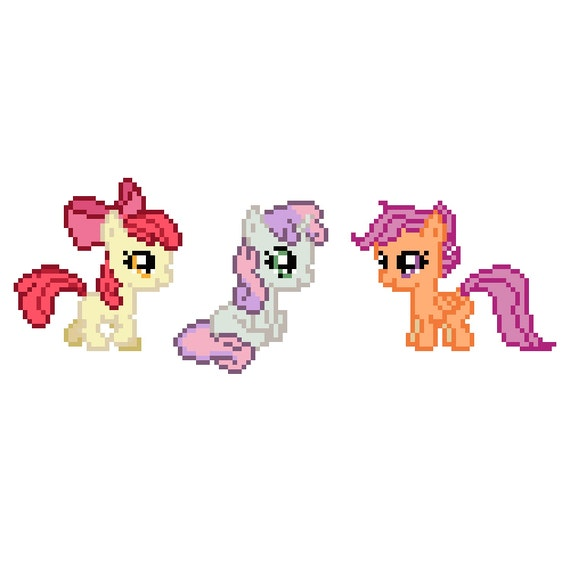 Cutie Mark Crusaders (My Little Pony: Friendship Is Magic) - Cross Stitch Pattern