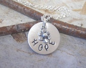 Flower girl necklace  - Child name necklace in sterling silver