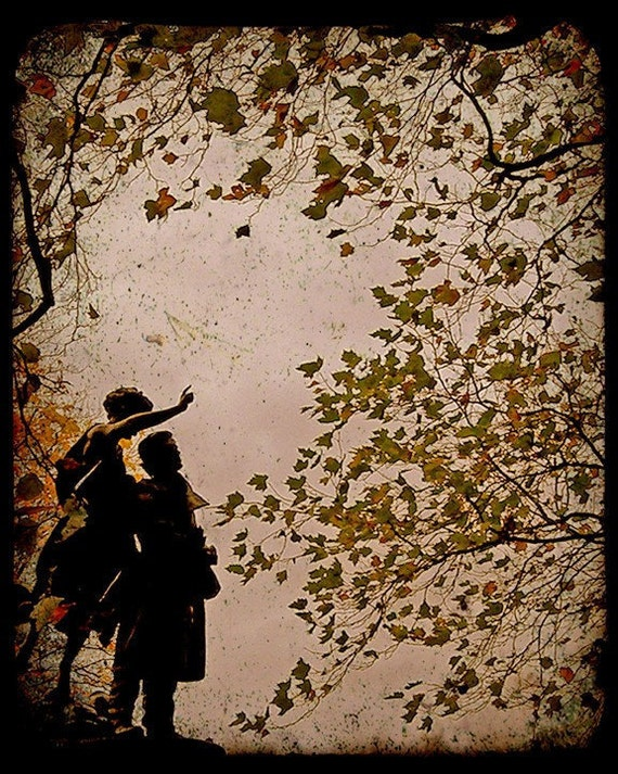 """Sepia Fairy Tale Photograph """"Wing and a Prayer"""" Woodland Fine Art Forest Photo Print"""