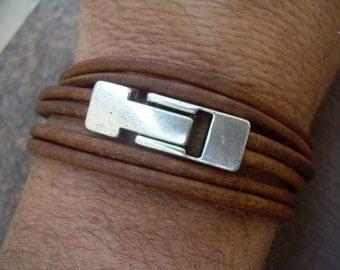 Leather Bracelet, Wrap Bracelet, Mens Bracelet, Womens Bracelet, Mens Jewelry,Magnetic Clasp, Fathers Day, Groom, Groomsmen