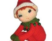Pixie Elf Knee Hugger Christmas Doll Pdf Email Knit PATTERN