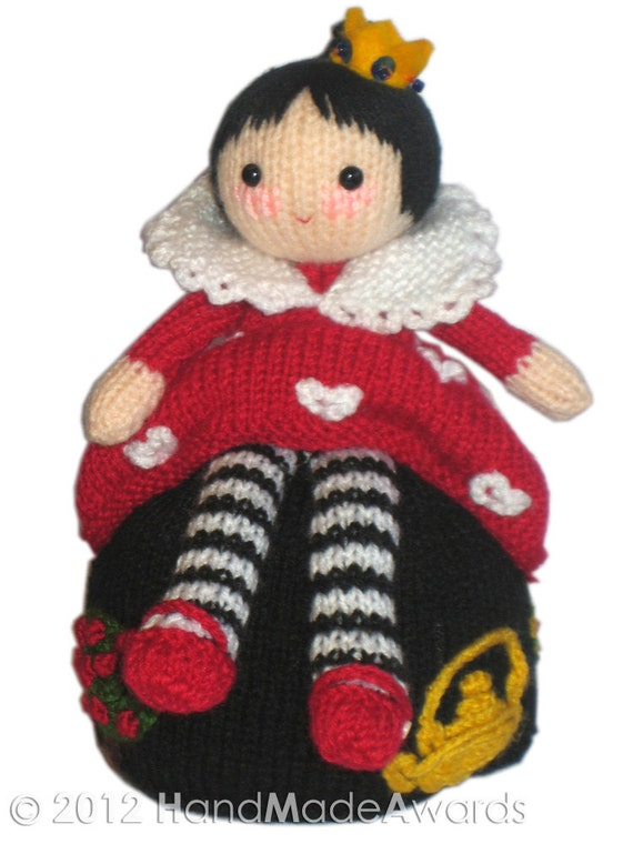 Knitting Pattern For Reversible Doll : Alice in Wonderland & the Queen of Hearts Reversible Doll ...