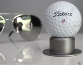 Metallic Polished Autographed Game Used Golf Ball Display Stand
